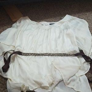 Cream dressy top